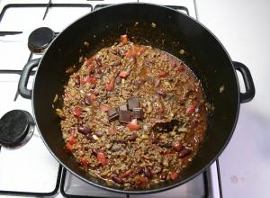 Chili con Carne m. Chokolade